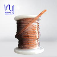 Cheap 0.5 X 2700 PET Covered Profiled Flat Litz Wire For Transformer , High Cut Through for sale