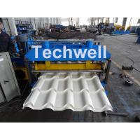 Quality Automatic PLC Controlled Tile Roll Forming Machine For Steel Metal Glazed Tile wholesale