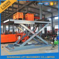 China Hydraulic Home Garage Car Scissor Lift ,  Automotive Vehicle Scissor Lift OEM on sale
