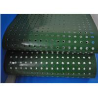 Cheap Green PVC Plastic Corrugator Conveyor Belt With Punching Holes For Lightweight Conveying for sale