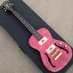 Cheap Maple Neck Half Empty Core F Empty Electric Guitar Maple Back Side for sale