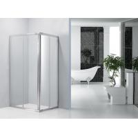 Sliding Bathroom Shower Enclosures 0.082 Volume With Bright Aluminum Frame
