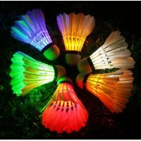 Cheap DARK NIGHT COLORFUL LED BADMINTON FEATHER SHUTTLECOCKS CHEAP PRICE WITH HIGH QUALITY for sale