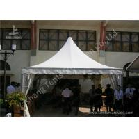 Cheap Outdoor Soft PVC Window Pressed High Peak Tents Aluminum Alloy Frame wholesale