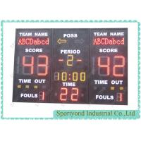 Cheap Club Led Electronic Basketball Scoreboard With Built-in 24 Second Shot Timer for sale