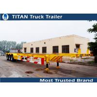 Cheap TITAN tri - axle 45ft skeletal container trailer chassis for maritime container for sale