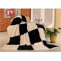 China Polyester Plush Fur Blanket Personalized Soft Touch Patchwork Keep Warm on sale