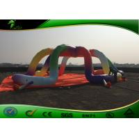 Cheap Oxford Cloth Inflatable Air Tent , Rainbow Color Inflatable Dome Tent for sale