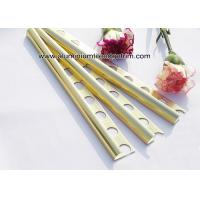 China Curved Shine Gold Aluminium Tile Edge Trim 10mm x 2.44m / 2.5m / 2.6m on sale