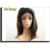 Natural Brown Remy Human Hair Glueless Full Lace Wigs No Shedding
