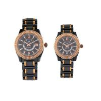 Cheap Analog Quartz Watch, Men Ceramic Watches with Golden Crystal Surface Customized for sale
