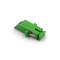 China FTTH High Quality Factory Price SC/APC Green Simplex Coupler Fiber Optical Inner Shutter Adapter on sale