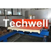 Cheap PU Insulated Cold Roll Forming Machine For Making Sandwich Panels for sale