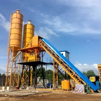 China Concrete Mixing Plant Mobile Ready Mixed Cement Concrete Batching Plant In on sale
