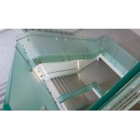 Cheap Glass railing with stainless steel standoff / patch fitting for staircase for sale