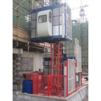 Cheap 380V 50HZ / 60HZ Construction Material Hoists 1000KGS With Double Cage for sale