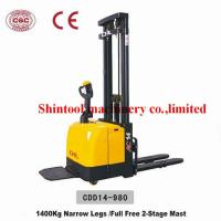 Cheap 1.4Ton Electric Pallet Stacker Narrow Legs With CURTIS 1230 Controller for sale