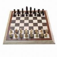 China Wooden Chess Set, 3.5 inches, with Chess Board on sale