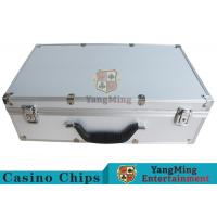 Cheap Easy To Carry Casino Game Accessories Aluminum Round Chip Case With Handle for sale
