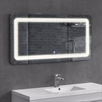 Cheap Frameless Led Surrounded Backlit Lighted Bathroom Wall Mirror With Bluetooth Radio for sale
