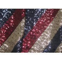 Cheap Multi-Color Embroidered Shiny Sequin Fabric Azo Free For Evening Dress Designer for sale