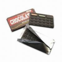 Cheap Chocolate-designed Calculator, Made of HIPS and Silica Gel for sale