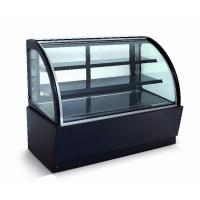 Cheap Curved Glass Refrigerated Display Case Cabinet For Cakes And Bakeries for sale