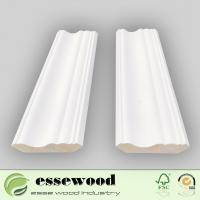 Cheap Chinese Fir White Gesso Coated Wholesale Wood Trim Crown Moulding for Ceiling for sale