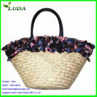 Buy cheap reusable shopping bags for women shouldere beach straw tote bags from wholesalers