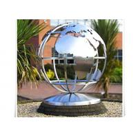 Cheap Metal World Globe Map Stainless Steel Sculpture For Public Decoration for sale
