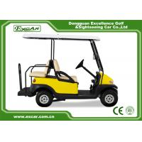 Buy cheap EXCAR Yellow Electric Golf Carts Front 2 Seater Plus Rear 2 Seats 3.7KW Motor from wholesalers