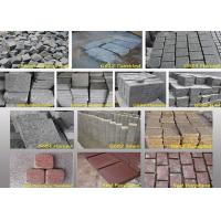 Cheap Outdoor Garden Natural Paving Stones Basalt Cobble Stone Raw Material for sale