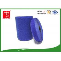 Blue hook and loop tape customized adhesive backed hook and loop tape 100% nylon material