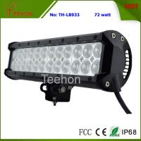 Cheap 72W 12 Inch Double Row LED Light Bar for 4X4 auto,LED spot light or LED flood light beam for sale