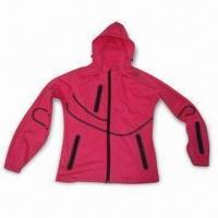 Cheap Ladies' Jacket with Three-layer Soft Shell, Membrane and Knit Fabric for sale