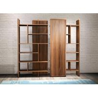 Cheap 2017 New walnut wood Bespoke Furniture Storage Cabinet Display Shelves with Glass door for sale