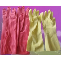 China Natural Rubber Household Gloves / chemical resistant rubber gloves / Household Latex Gloves on sale