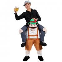 Cheap Adult Ride On Stag Mascot  Animal Mascot Costumes Bavarian Oktoberfest for sale
