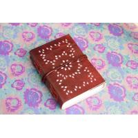 China Leather Writing Journal Hand Bound Journal personalized Leather Journal with leather tie c on sale