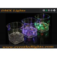 Multicolor LED Plastic Cups , Liquid Activated Lighted Shot Glass