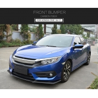 China Carbon Fiber Front Lip Spoiler for Honda Civic 10th Type 16-17 on sale