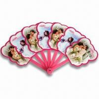 Cheap Hand Fans, Customized Logo Printings are Accepted, Made of PP, Suitable for Promotional Purposes for sale