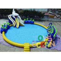 Cheap Outdoor Commercial Inflatable Water Park Round For Kids Durable Security for sale