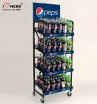 Cheap Set Brand Apart Wine Display Stand Metal Soda Water Bottle Display Rack for sale