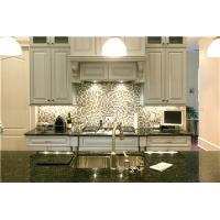 Cheap Contemporary grey color solid wood Kitchen Cabinet for sale