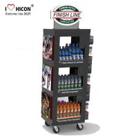 Cheap Free 3D Wine Display Stand Rendering Movable Tiered Display Stand With Custom Logo for sale