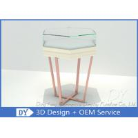 China Simple Fashion Glass Jewelry Display Case With Environmental PU Paint on sale