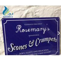 Cheap Screen Alphabet Printed Antique French Enamel Signs Silk Screen Printing for sale
