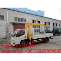 factory sale best price dongfeng  4*2 LHD mini truck with crane, Dongfeng 2.5tons cargo truck mounted on crane for sale