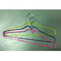 China Coat wire hanger rubberized,40cm*17.5cm*4.6mm(Dia),Pink,purple and green color on sale